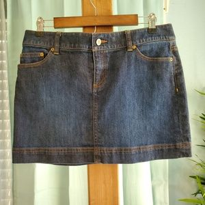 Lilly Pulitzer Dark Wash Denim Jean Skirt